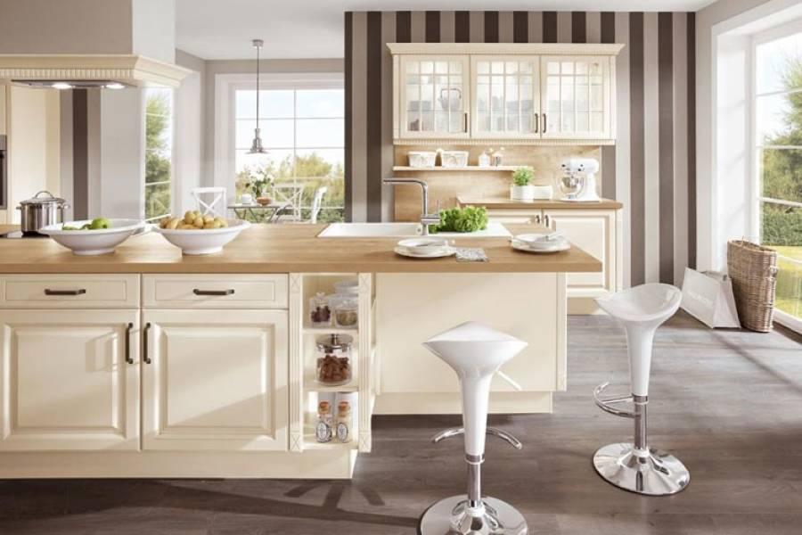 Mobilă de bucătărie clasică Nobilia Castello - Crem, bej antichizat