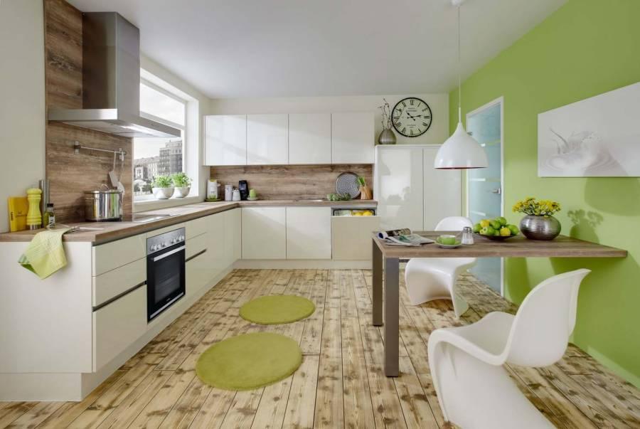 Mobilă de bucătărie modernă Nobilia Lux - Bej, crem lucios