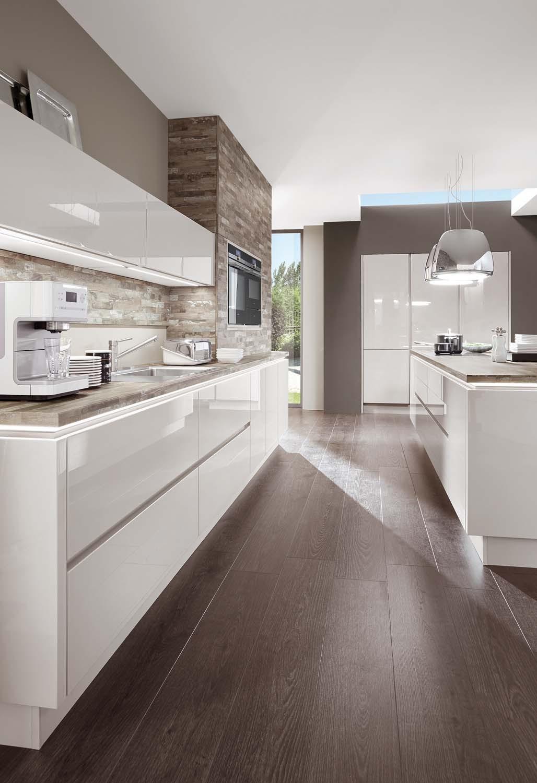 Mobilă de bucătărie modernă Nobilia Lux - Satin gri lucios