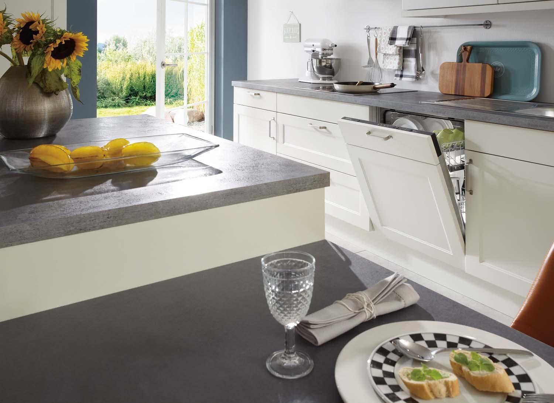 Mobilă de bucătărie rustică Nobilia Chalet - Alb mat