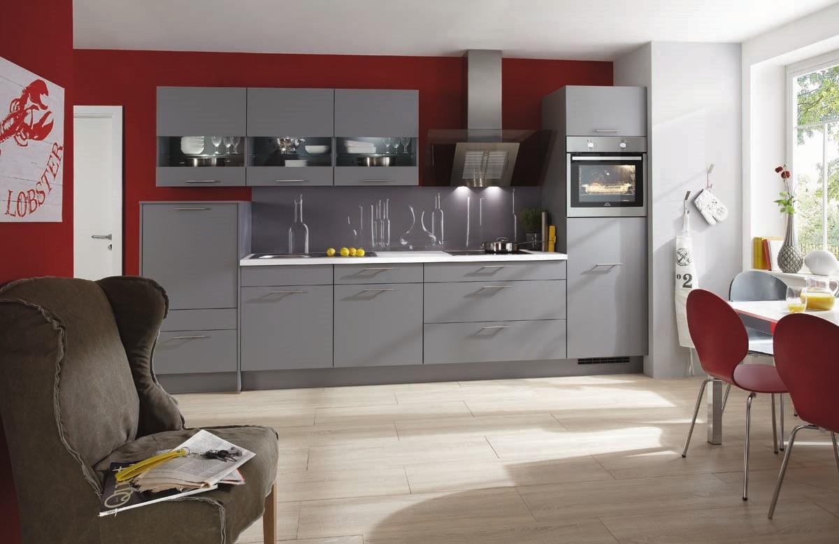 Mobilă de bucătărie modernă Nobilia Laser - Gri mineral