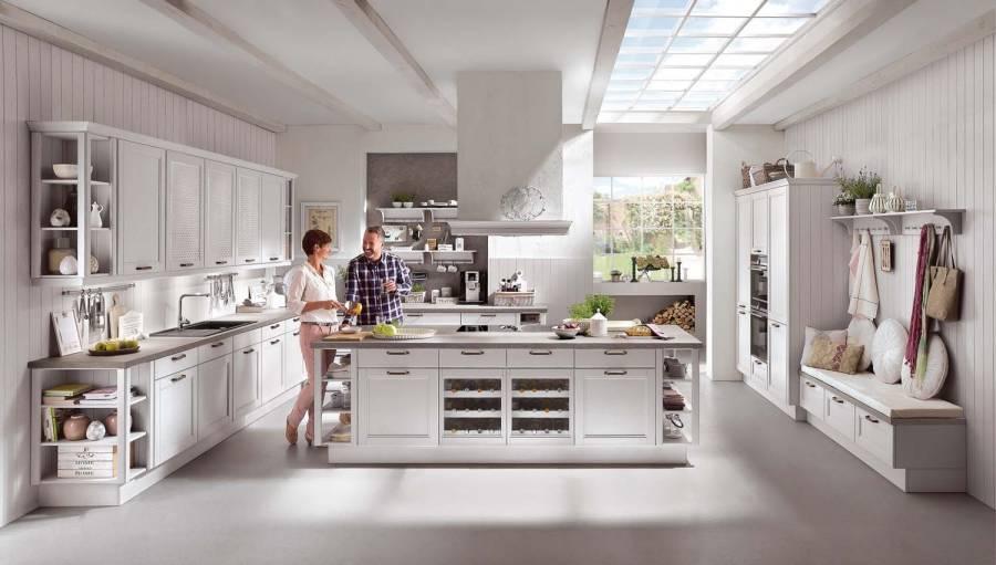 Mobilă de bucătărie rustică Nobilia York -  Lemn autentic, satin gri