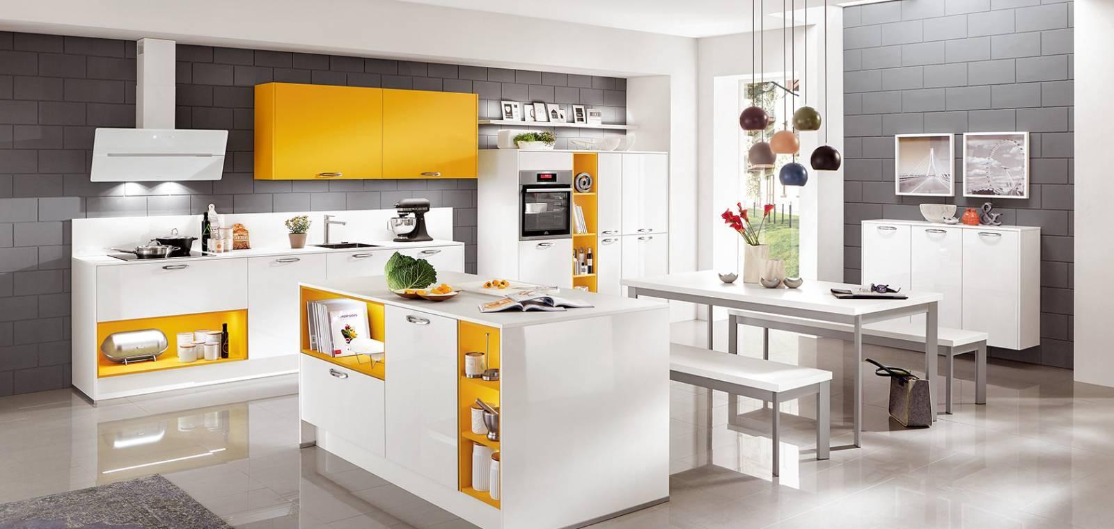 Mobilă de bucătărie modernă Nobilia Color Concept - Galben porumb