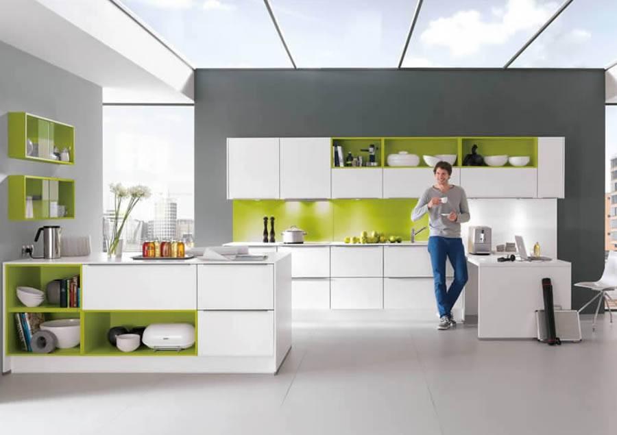 Mobilă de bucătărie modernă Nobilia Color Concept - Verde ferigă