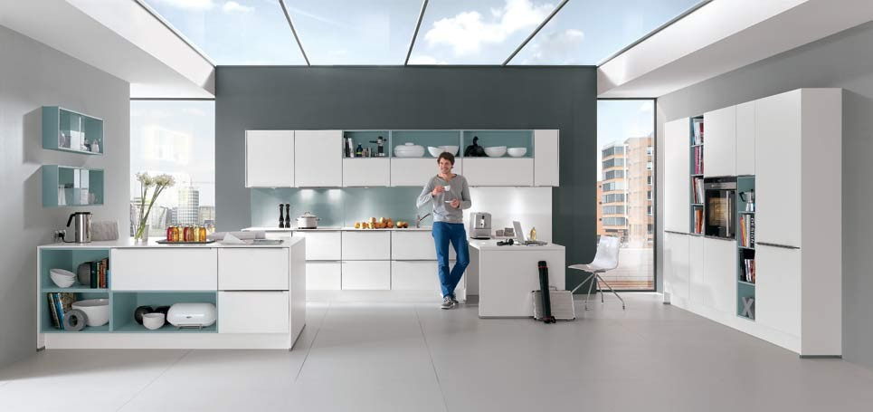 Mobilă de bucătărie modernă Nobilia Color Concept - Apă albastră