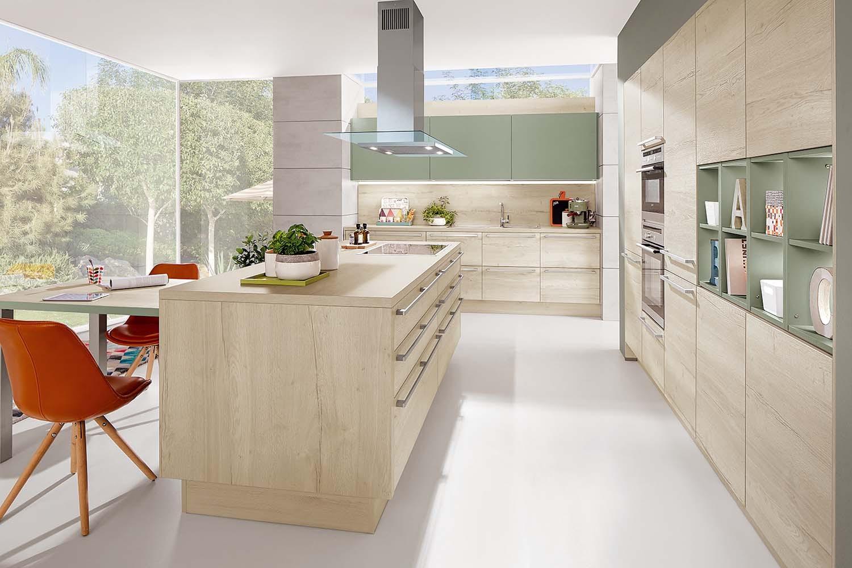 Mobilă de bucătărie modernă Nobilia Color Concept - Verde salvie