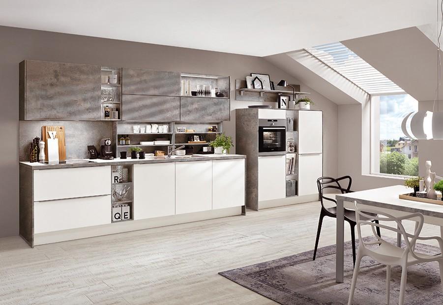 Mobilă de bucătărie modernă Nobilia Color Concept - Plăci ruginite, maro
